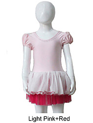 Light Pink Puffy Sleeve Leotard with Tutu for Ladies and Girls