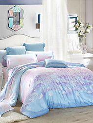 Home Textile Bedding Set Four Piece 100% Tencel Bedding Set Luxury Flat Sheet Duvet Cover Pillowcase