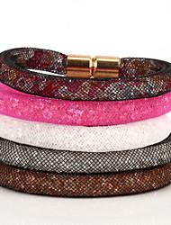 Vilam® Mesh Stardust Bracelets With Crystal stones Filled Gold Magnetic Clasp Charm Bracelets Bling Bling