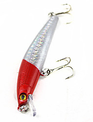Hard Bait / Fishing Lures Fishing-1 pcs Silver / Red Hard PlasticSea Fishing / Bait Casting / Freshwater Fishing / Lure Fishing / General