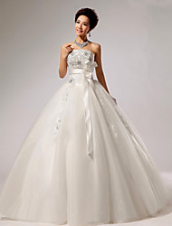 Ball Gown Floor-length Wedding Dress -Strapless Velvet