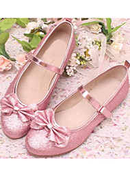 Girls' Shoes Dress/Casual Round Toe Satin Flats Blue/Pink/Silver/Gold