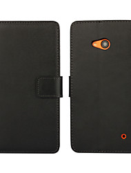 Light Surface PU Leather Full Body Wallet Protective Case with Stand and Card Slot for Microsoft Lumia 640