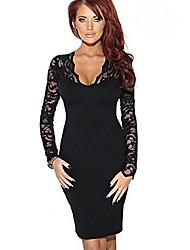 Diyaxuan Women's Sexy Long Sleeve Dresses (Lace)