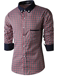 Manni Men's Long Sleeve Casual Shirts (Cotton)