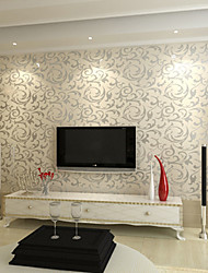 Contemporary Wallpaper Trees/Leaves Wall Covering PVC/Vinyl Wall Art