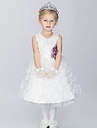Ball Gown Knee-length Flower Girl Dress - Cotton/Organza/Taffeta Sleeveless