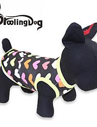 Verano - Negro Algodón - Vestidos - Perros / Gatos - XS / S / M / L