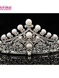 Neoglory Jewelry Imitation Pearl and Austrian Rhinestone Flower Tiara Crown for Lady/Bridal Pageant/Wedding
