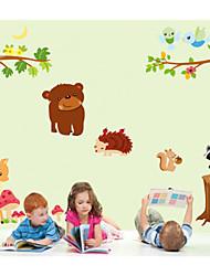 stickers muraux autocollants de mur, animal de bande dessinée mur paradis pvc autocollants pour enfants