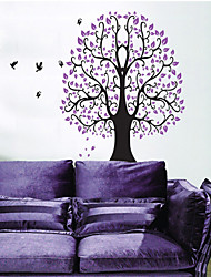 Wall Stickers Wall Decals, Purple Tree PVC Wall Stickers
