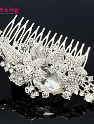 Neoglory Jewelry Flower Hair Comb Headband with Rhinestone for Lady/ Bridal/Wedding/Daily/Pageant