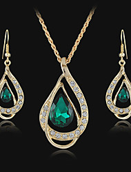 Women's European and American fashion major suit Earrings Necklace Set(1 set)8586-15