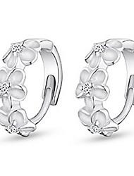 kiki 925 camellia prata clipe de orelha