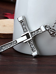 Personalized Gift Fast & Furious Stainless Steel Cross Shaped Pendant Necklace Engraved Jewelry