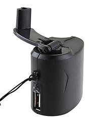 Портативный динамо рукоятка USB сотовый телефон чрезвычайных зарядное устройство для путешествий на открытом воздухе