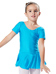 Ballet Dresses&Skirts / Tutus & Skirts / Dresses Children's Training / Performance Spandex 1 Piece Short Sleeve Princess Dress