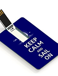 64GB Keep Calm and Sail On Design Card USB Flash Drive
