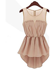 Mini - Vestido - Casual - Raso/Encaje