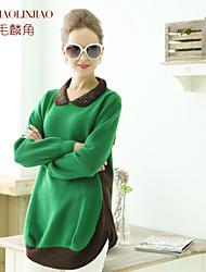 Women's Green Cashmere , Vintage/Work Long Sleeve