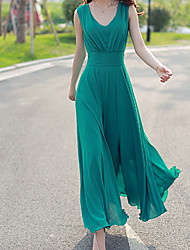 Women's Sexy/Beach/Party Sleeveless Dresses (Chiffon)