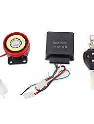 Professional Motorcycle Anti-theft Security Alarm 4-Key Remote Control Kit DC12V