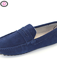 Men's Shoes Suede Doug Shoes Business Casual Shoes with Breathable Cowhide Leather MO