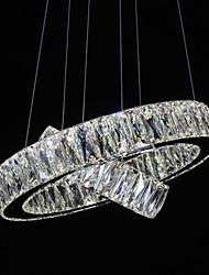 Crystal LED Pendant Lights Modern Lighting Two Rings D4060 K9 Large Crystal Indoor Ceiling Light Fixtures