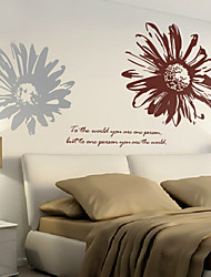 Wall Stickers Wall Decals, Modern Romantic sunflower PVC Wall Stickers