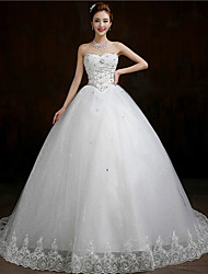 Ball Gown Court Train Wedding Dress -Sweetheart Tulle