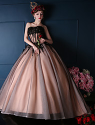 Formal Evening Dress-Orange Ball Gown Sweetheart Court Train Lace / Tulle / Charmeuse