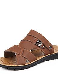 Zapatos de Hombre - Sandalias - Casual - Cuero - Marrón / Amarillo
