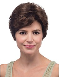 Capless Short Curly Human Hair Wigs