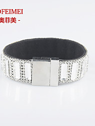 Korean fashion jewelry new winter temperament luxury full diamond bracelet accessories