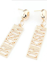 Lucky Doll Women's  Gold Vintage Cut Out Earrings
