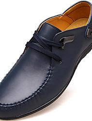 Oxfords ( Noir/Bleu/Marron ) - Bout fermé - Cuir