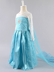 Girls Clothing Dress Frozen Costume Robe Vestidos