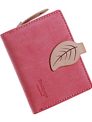 WEST BIKING® Women Maple Short Snap Wallet Female's Frosted Coin Purse
