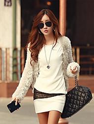 Women's Dresses , Cotton/Knitwear Sexy/Casual/Work Long Sleeve K.M.S