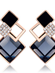 Mingluan Women's Fashion Geometrical Contrast Color Earring