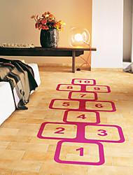 decalques de parede adesivos de parede, estilo de jogo clássico de parede de pvc amarelinha stickers
