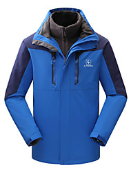 The Two Sets of Outdoor Wear Jackets with Coral Fleece Liner Sides