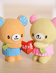 Cake Topper Hearts Couple Bears Non-Toxic Resin