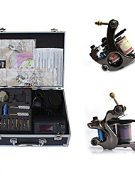 kits complets ensemble de tatouage avec 2 pistolets lcd supérieure alimentation