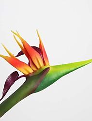 Seda Strelitzia Flores artificiais