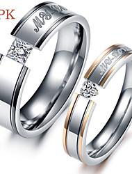 OPK®Fashion AAA Zirconium Titanium Exquisite Gift Lovers Rings