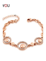 Women's Chain/Tennis/Round Bangles Bracelet Cubic Zirconia/Alloy/18K Gold Plated Opal/Crystal/Cubic Zirconia