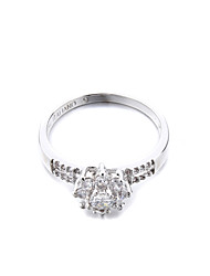 Women's Brass Fashion flower CZ Ring(More Colors)