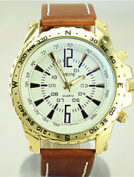 European Style Fashion Latest High Quality Darts Dial Leather Watch