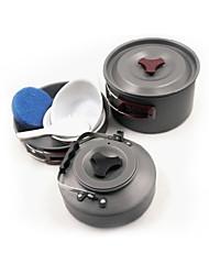fogo-de bordo FMC-204 liga de alumínio duro pote talheres chaleira fogão cafeteira t1 outdoor 2-3
